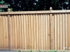 Louvered Wood Privacy Fence
