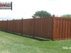 Batten Wood Privacy Fence with Caps
