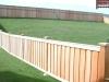 Batten Fence With Decorative Caps