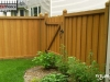 Batten Wood Fence with Rail