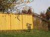 Side-by-Side Boards on Wood Privacy Fence