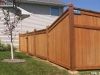 King Style Wood Fence With Traditional Picket Top
