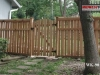 King Style Wood Fence With Gate
