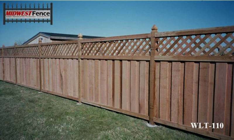 Lattice Top Wood Privacy Fences Midwest Fence