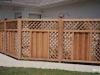 Contoured Lattice Top Wood Privacy Fence