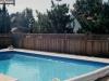 Lattice Top Privacy Fence Around Pool