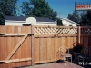 Lattice Top Wood Privacy Fence with Gate