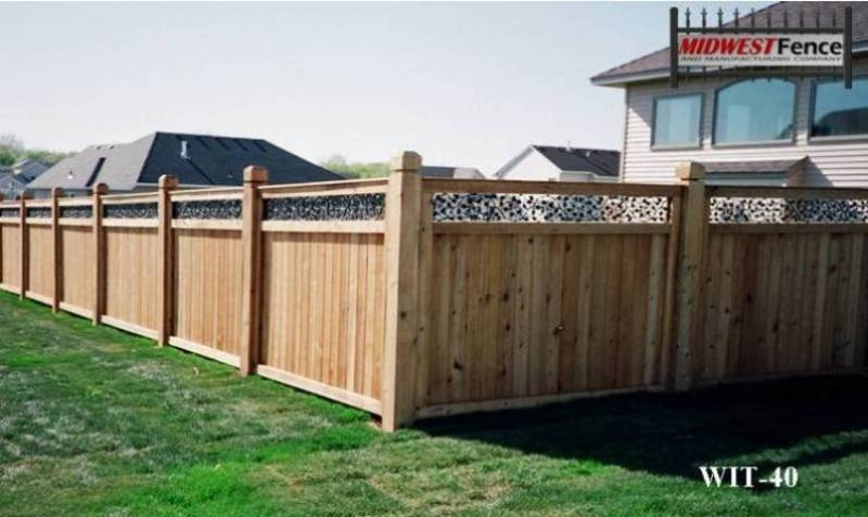 Tongue and Groove Wood Private Fence