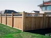 Tongue and Groove Privacy Fence With Ivy Top