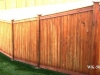 Tongue and Groove Fence with Caps