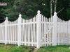 Scalloped Vinyl Picket Fence