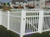 PVC Picket Fence with Gate