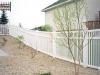 Slope PVC PIcket Fence