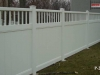 Vinyl Privacy Fence with Decorative Top