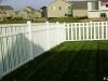 PVC Fence With Slats