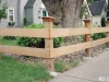 Wood Capped Split Rail Fence