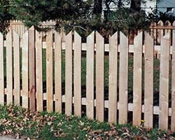Wedgewood Wood Picket Fence